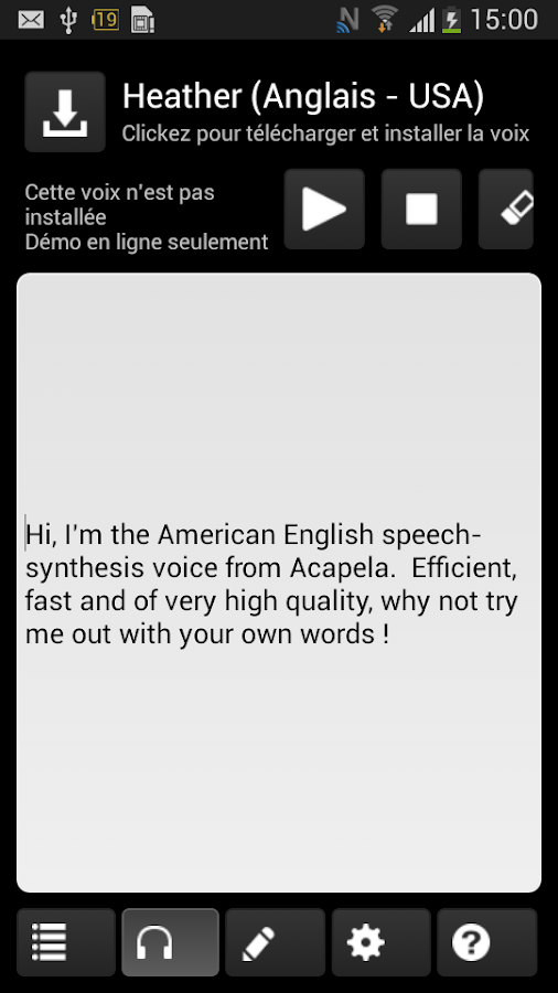 Acapela TTS Voices - screenshot
