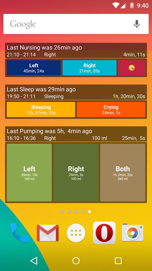 Breastfeeding - Baby Tracker - screenshot