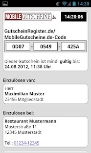 Mobile-Gutscheine.de- screenshot thumbnail