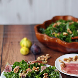 Kale Salad with Figs, Prosciutto, and Walnuts