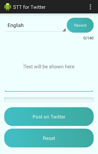 Speak with Twitter