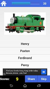 Thomas Toy Train Cartoon Quiz