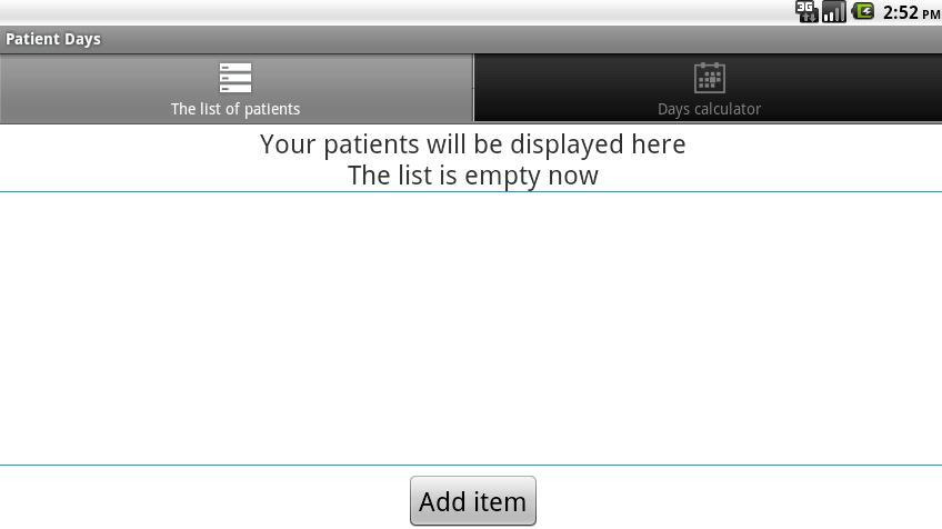 Medical days calculator - screenshot