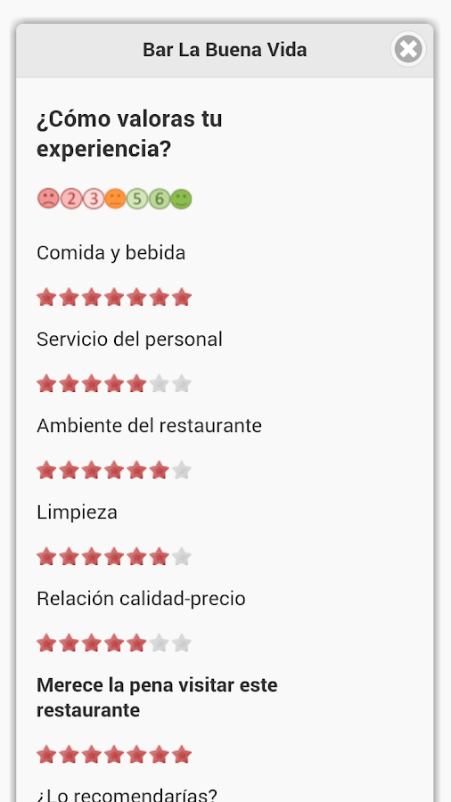 My Restaurants in Granada- screenshot