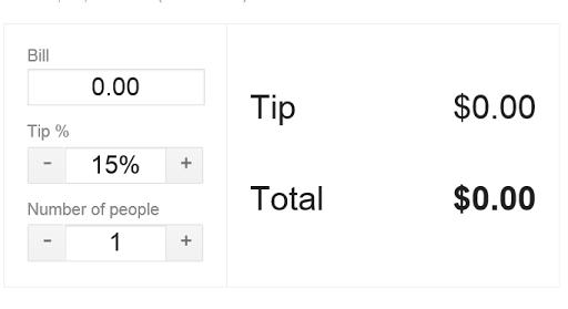 Tip Calculator Basic