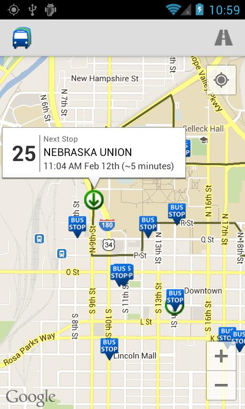 StarTran Bus Tracker - screenshot