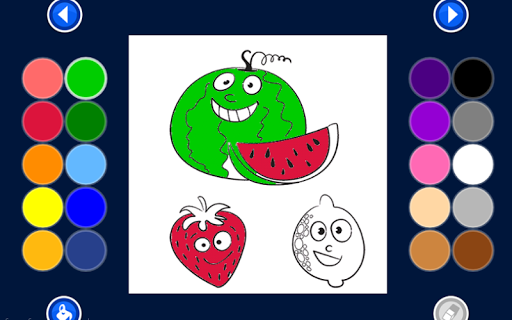 fruit coloring game for kids