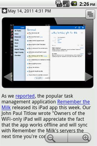 Daily Reader (Google Reader) - screenshot