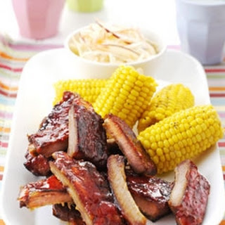 Pork Ribs with Coleslaw Recipe