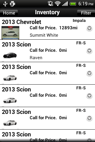 Serra Toyota App - screenshot