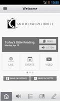 Screenshot of Faith Center