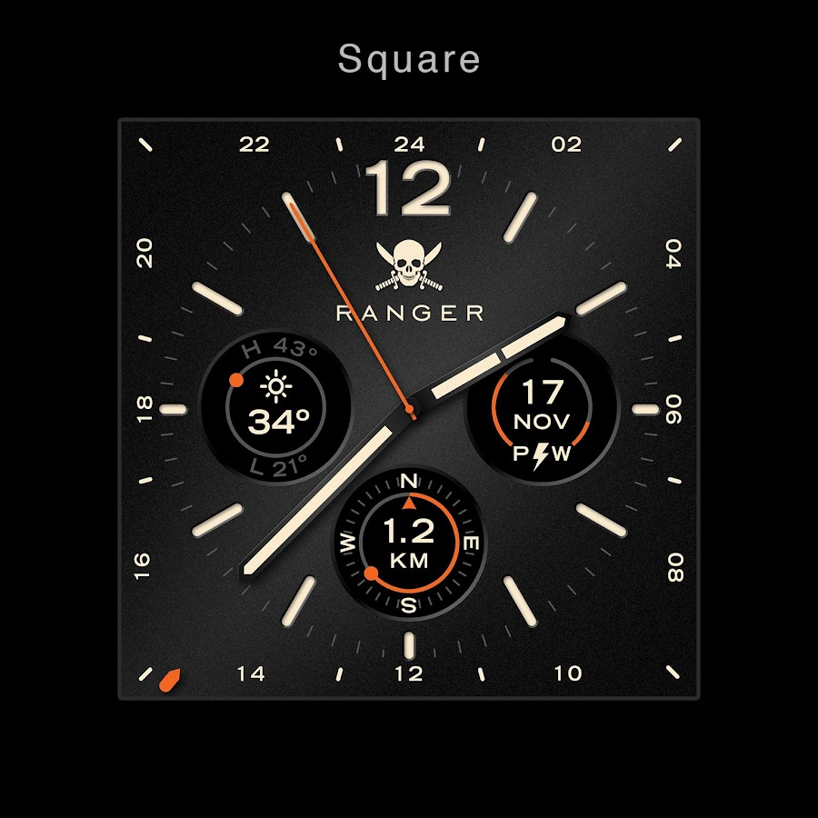 Ranger Military Watch Face- screenshot
