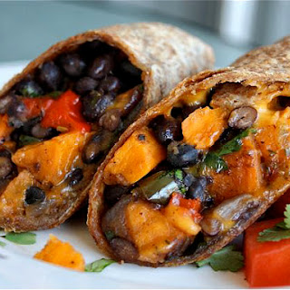 Roasted Veggie and Black Bean Burritos.