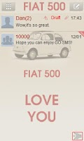 Screenshot of GO sms FIAT 500 theme