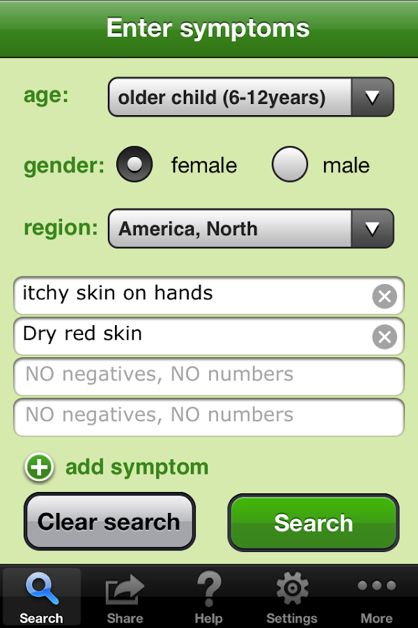 Isabel Symptom Checker- screenshot