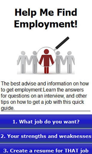 Help me find employment