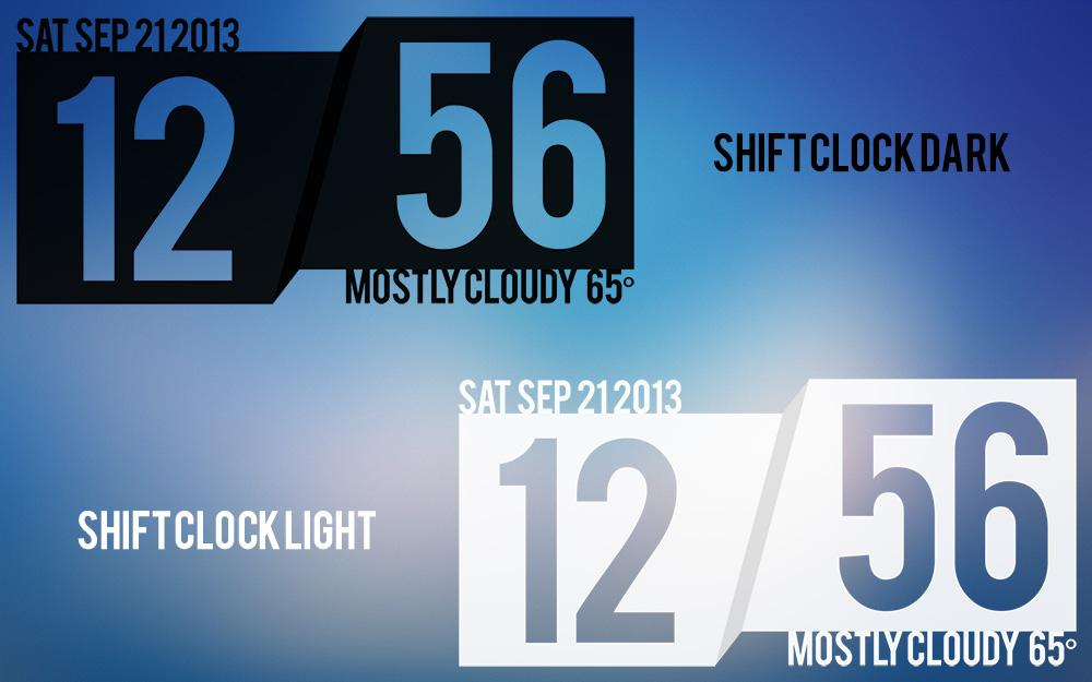 Shift Clock - UCCW Skin - screenshot