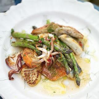 Pan-cooked Asparagus & Mixed Fish