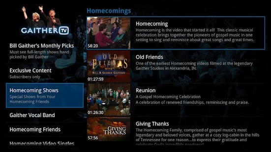 Gaither TV- screenshot thumbnail