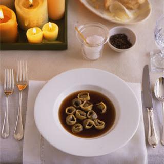 Mushroom Tortellini in Mushroom Broth
