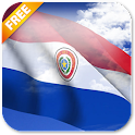 3D Paraguay Flag icon