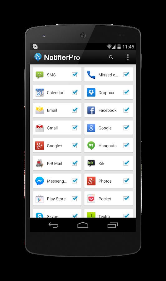 NotifierPro Free - screenshot
