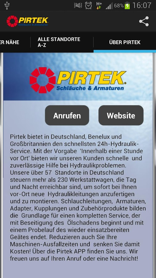 PIRTEK - screenshot