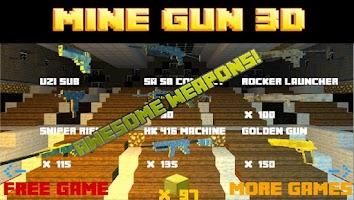 Screenshot of Mine Gun 3d - Cube FPS