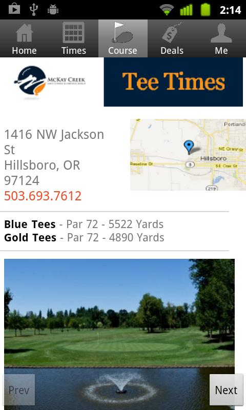 McKay Creek Tee Times- screenshot