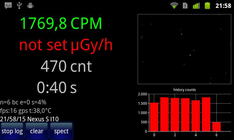 Radioactivity Counter - screenshot