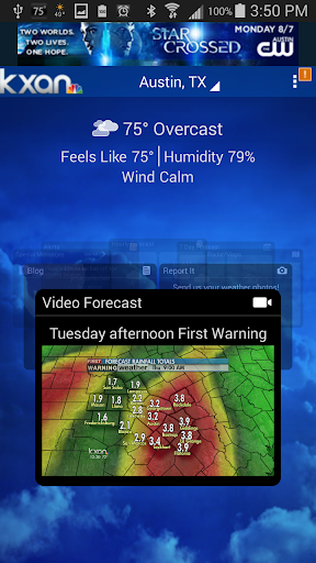 KXAN Weather screenshot