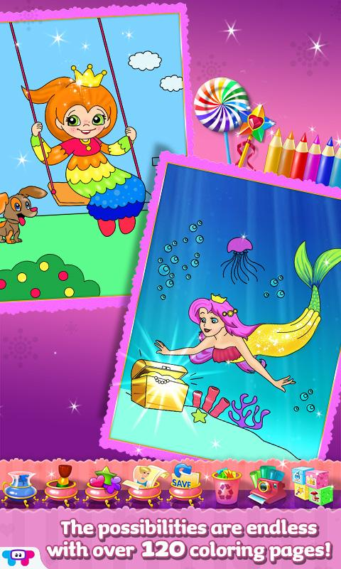 Paint SparklesPrincess Party Screenshot