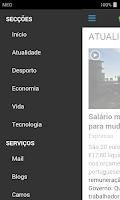 Screenshot of SAPO Mobile