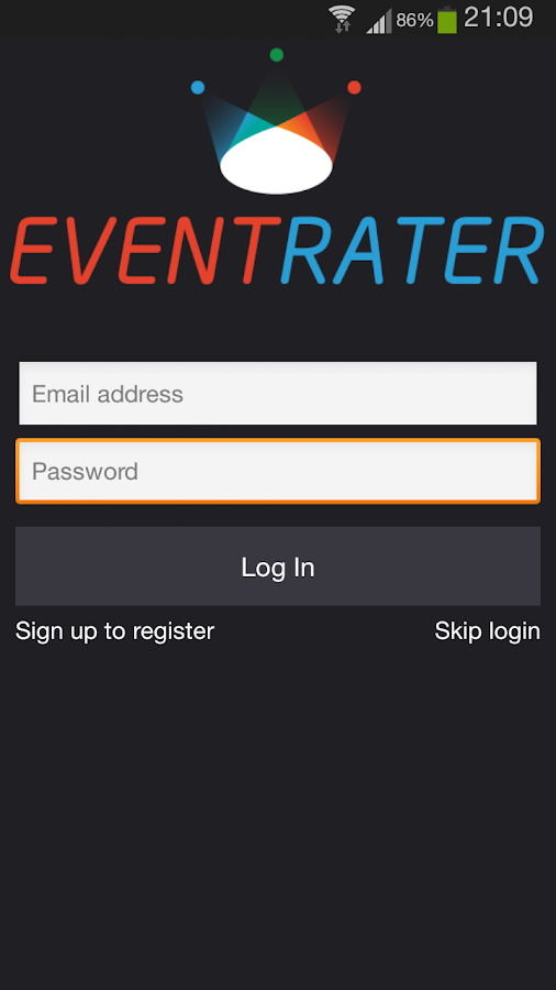 Event Rater- screenshot