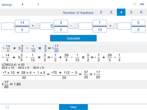 免費下載教育APP|Fraction calculator XL app開箱文|APP開箱王