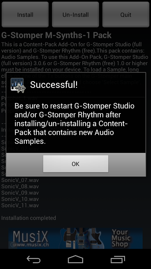 G-Stomper Mobile-Synths-1 Pack - screenshot
