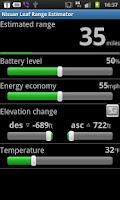 Screenshot of Nissan Leaf Range Estimator