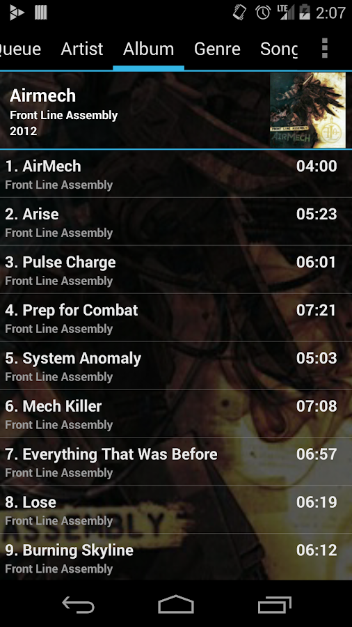 GoneMAD Music Player (Trial) - screenshot