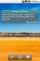 Screenshot of Management Quotes