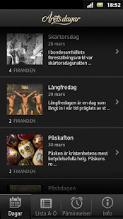 Årets dagar- screenshot thumbnail