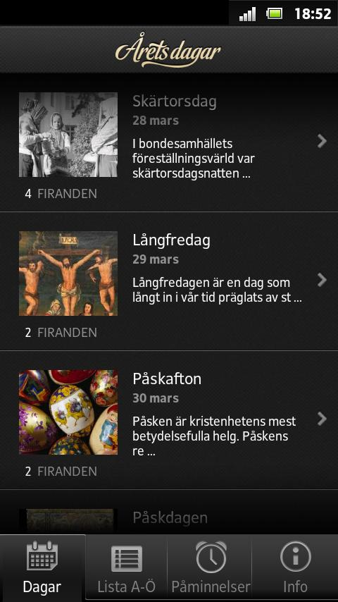 Årets dagar- screenshot