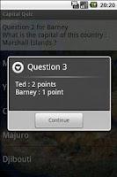 Screenshot of Capital Geo Quiz