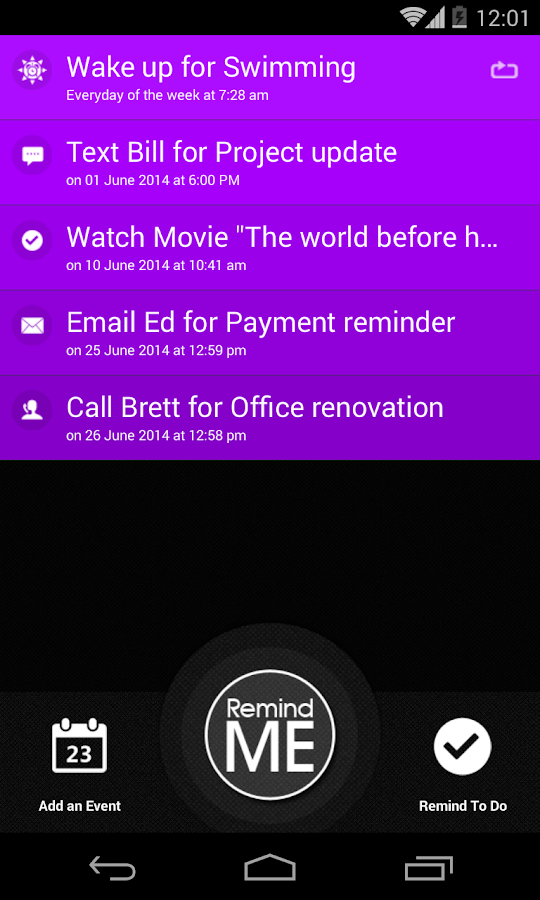 Remind Me - Quick Reminder App- screenshot