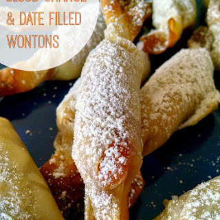 Blood Orange Date Filled Wontons.