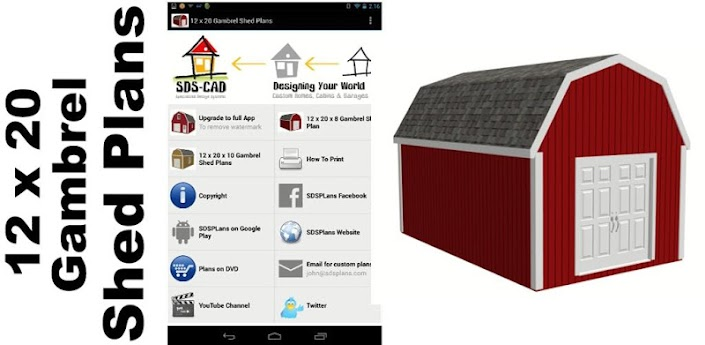 12 X 20 Gambrel Shed Plans Android Apps On Google Play