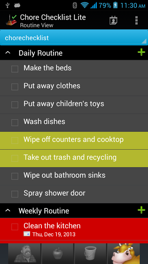 Chore Checklist - Lite - screenshot
