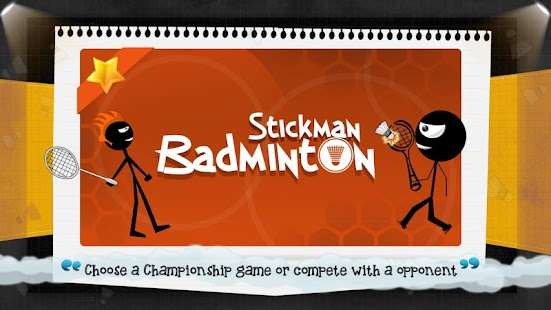 Stickman Badminton- screenshot thumbnail