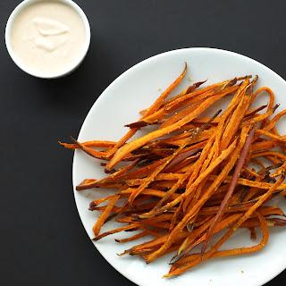 Baked Sweet Potato Shoestring Fries Recipe