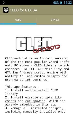 CLEO SA 1.0.6   app screenshot