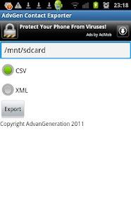 AdvGen Contact Exporter- screenshot thumbnail